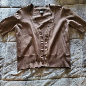 New York & Company Brown Button Up Cardigan